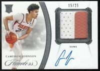 CAMERON JOHNSON 2019-20 Flawless Rookie Patch On Card Autograph Auto RPA #15/25