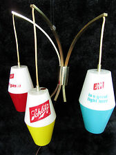 VINTAGE1964 SCHLITZ BEER LIGHTED WALL HANGING TRIPLE PENDANT RETRO BAR LAMP SIGN