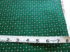 "Tiny white heart floral & dots on dark green-100% cotton(Cranston) 36"" x 43"""