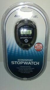 Sportline Econosport Stopwatch 240 with Split time, Alarm, Date and Month NEW!