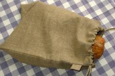 "Rustic Natural Linen Bread Bag. Food Storage bags. Reusable bags 11.8""x15.4"""