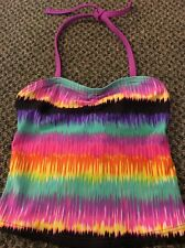 XHILARATION GIRL XS 4-5 SWIMSUIT Tankini  TOP  Bright Colorful NWOT