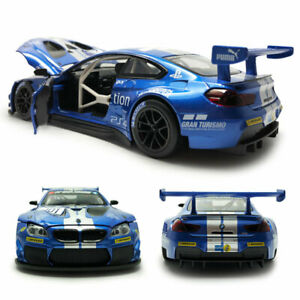 BMW M6 GT3 Racing Car 1/24 Scale Model Car Diecast Vehicle Blue Collectible Gift