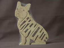 French Bulldog Dog Wooden Frenchie Amish Wood Scroll Saw Toy Puzzle