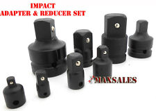 "8PC 1/4"" 3/8"" 1/2"" 3/4"" 1"" INCH DR BLACK IMPACT SOCKET ADAPTER REDUCER TOOL SET"
