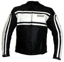 Italienne blouson veste moto en cuir vetements NEUF L XL 3XL 52 54 56 blanc