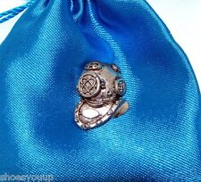 Diving Helmet Finely Handcrafted in Solid Pewter In UK Lapel Pin Badge