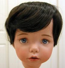 DOLL WIG, BABY style Dark Brown 9-10 short straight hair for boy, toddler DOLLS