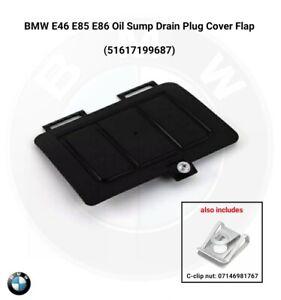 Genuine BMW E46 E85 E86 Oil Sump Drain Plug Cover Flap 7199687 51617199687