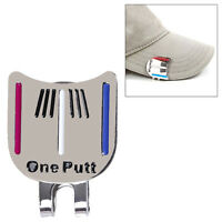 Golf Ball Marker Putting Putt Alignment Aiming Tool with One Magnetic Hats Clip