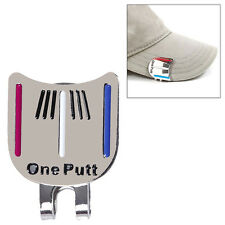 "1pc MAGNETIC HAT CLIP with ""One Putt"" GOLF BALL MARKER  Pop"