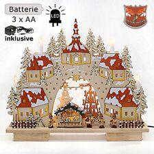 AKTION 3 D LED Lichterbogen Schwibbogen 3D Stadt  Winterkinder Weihnachtsmarkt