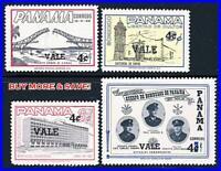 PANAMA 1963 NEW VALUES SC#445-45C  MNH BRIDGES, FIREFIGHTERS, CHURCHES