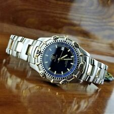 New Mens POLO Seamaster Gold Plated & Stainless Steel Watch Beverly Hills Polo