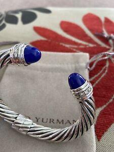 Blue Lapis Inlaid  Sterling Silver Link Bracelet 7 inch   13.3 g