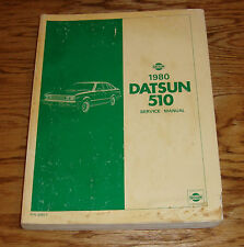 Original 1980 Datsun 510 Model A10 Series Shop Service Manual 80