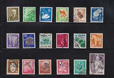 JAPAN 1967-1971 NATIONAL TREASURE PLANTS & ANIMALS SERIES COMP. SET OF 18 STAMPS