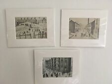 3 For 2 X SMALL LS Lowry Prints (Buildings) In Mount Ready To Frame -