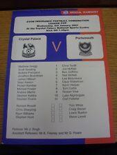 03/01/2001 Crystal Palace riserve v Portsmouth riserve [a livello nazionale Sports CEN