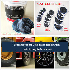 45pcs Cold Patch Radial Repair Round Assortment Tire Patch SMALL MEDIUM LARGE