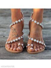 Bohemian flat peep toe sandal womens