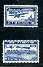 Dominican Republic Stamps # C-19 Specimens