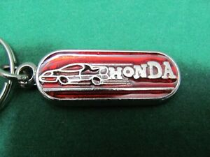 Honda Keychain/Keychain Metal Enamelled with Ring - Vintage - New