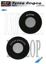 LF Models Decals 1/48 AIRCRAFT TIRE LOGOS Dunlop & Dunlop Aeroplane