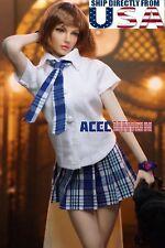 PHICEN 1/6 scale Seamless Female Figure Short Brown Hair Beauty Doll Set U.S.A.