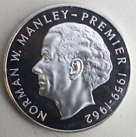 1973 Jamaica $5 Sterling Silver Coin Norman Manley Five Dollars Uncirculated Unc