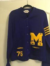 Oregon Athletic Vintage Varsity Cardigan Letter Sweater Unisex Sports Sz 38 1975