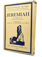 Rev. Dr. A. Cohen JEREMIAH :  With Hebrew Text, English Translation 1st Edition
