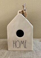 Rae Dunn 'HOME' Ceramic Birdhouse w/ Burlap Bow & Tag LL Farmhouse by Magenta