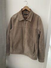 Genuine Leather Ben Sherman Suede/Leather Men's Beige Brown Jacket Size Large