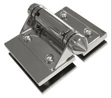 The Architects Choice GLASS TO GLASS HINGE SET Polished Stainless Steel