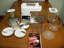 Vintage Oster Regency Kitchen Center 971-08H 12 Speed Blender w/Accessories