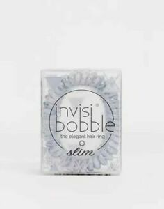 """Invisibobble Marblelous SLIM """"You're Greyt"""" Pack of Three Grey Hair Bobbles -New"""