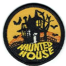 Girl Boy Cub HAUNTED HOUSE orange Fun Patches Crests Badge SCOUT GUIDE Halloween