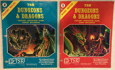 2 TSR 1980 Dungeons & Dragons Rule Books #1 BASIC & #2 EXPERT Fantasy Adventure