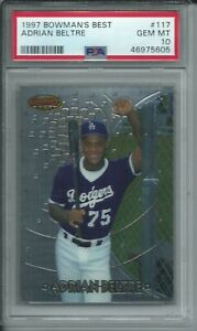 1997 BOWMAN'S BEST BASEBALL #194 ADRIAN BELTRE DODGERS ROOKIE RC PSA 10 GEM MINT