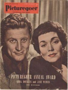 Picturegoer Film Weekly Kirk Douglas and Jane Wyman cover March 8, 1952
