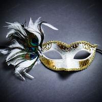 Masquerade Carnival Eyemasks Feather Lace Tassel Party Masked Ball on Headband