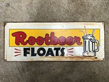 Rootbeer Floats - Vintage Metal Wall Sign - Mummert Sign Co.