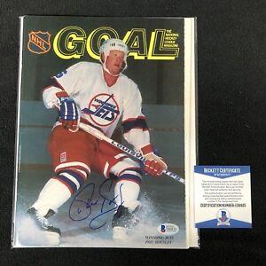 Phil Housley Signed GOAL Magazine Winnipeg Jets Beckett Authenticated