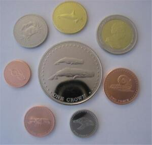 Marine Animals 2008 Tristan da Chuna Eight Coin Set
