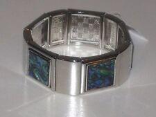 -Rv $118 Gorgeous & Very Rare* Lia Sophia Pacific Bracelet - Genuine Abalone