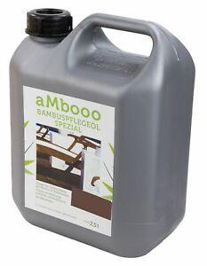 aMbooo Bambus Pflegeöl für Terrassendielen Espresso 2,5 ltr.
