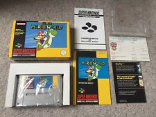 Snes ~ Super Mario World Mint Yellow Box Version   ~ Super Nintendo