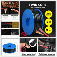 3MM Electrical Cable Electric Twin Core Extension Wire 30M Car 450V 2 Sheath New