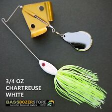 Buzzbait CHOPPER 3/4 oz CHARTREUSE WHITE buzz bait buzzbaits. KVD trailer hook